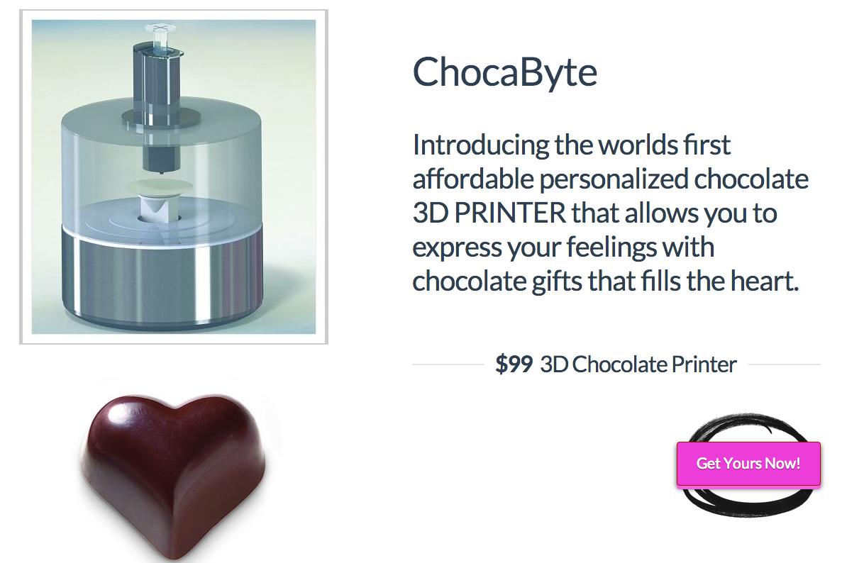 2014年は3Dフードプリンタ元年。99ドルの3Dチョコレートプリンタも